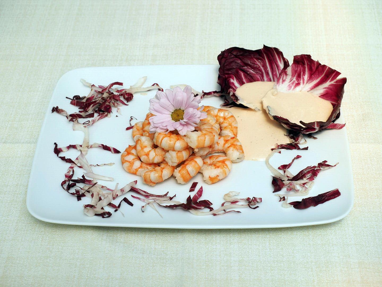 Gamberetti con salsa rosa